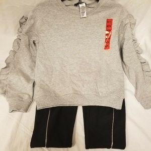 BEBE Girl's 2 Piece Pullover Top Sweatshirt M7/8